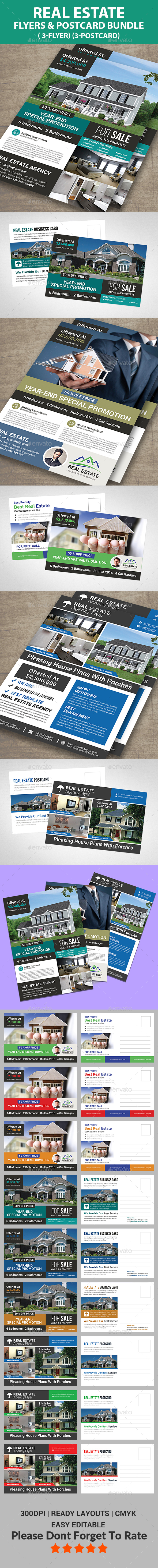 Real Estate Flyer & Post Card Bundle