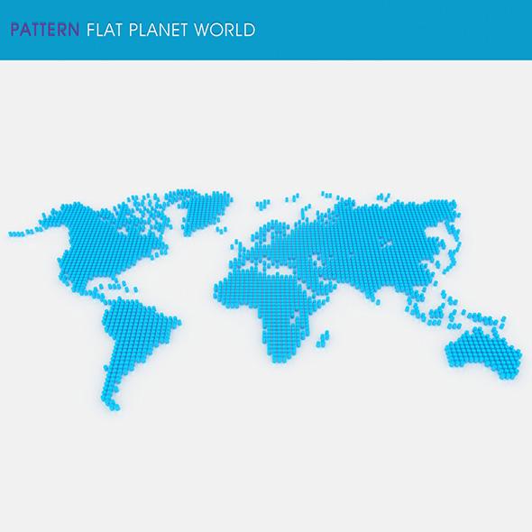 Pattern Flat Planet World - 3DOcean Item for Sale