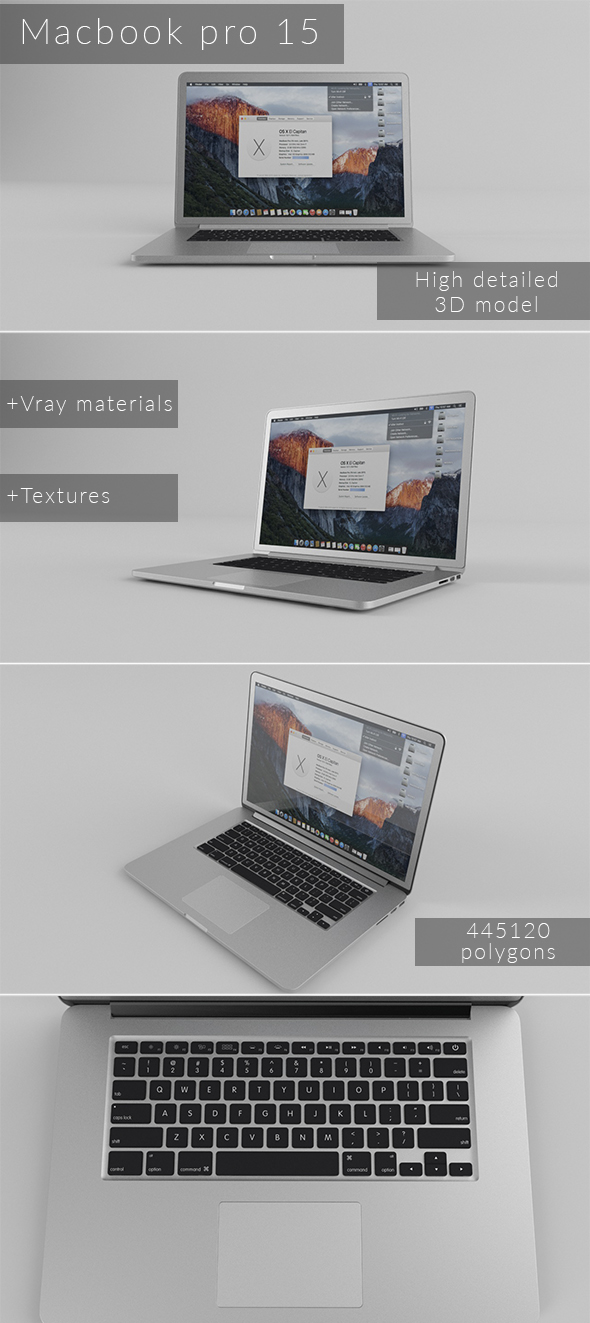 Macbook Pro 15 - 3DOcean Item for Sale