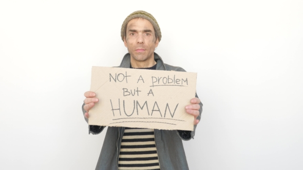 Download Man Holding Tablet Not a Promlem But a Human nulled download