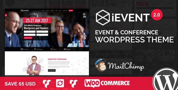 Фото Премиум тема Wordpress  iEvent - Event & Conference WordPress Theme — banner wp new.  large preview