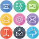 Text, Email Flat Icons - Line Icons
