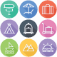 Travel - Tourism Flat Icons - Line Icons