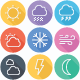 Weather - Forecast Flat Icons - Line Icons