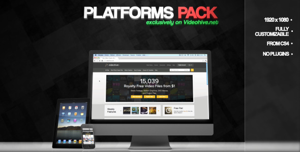 After Effects Project - VideoHive Platforms Pack 1677437