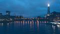 The Shard, Thames River and London Bridge at Night