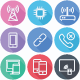 Communication and Network Flat Icons - Line Icons