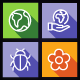 Ecology, Nature, Science Flat Icons - Line Icons