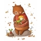 Brown Teddy Bear Hugging a Girl