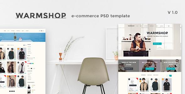 Warmshop - Minimal eCommerce PSD Template