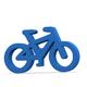 Blue bicycle icon on white