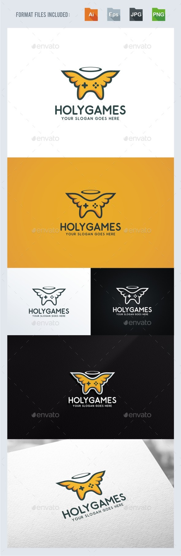 Holy Game Logo Template
