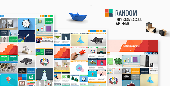 Random - Impressive & Cool WP Theme