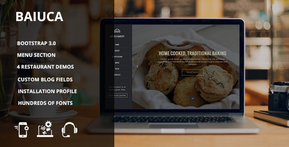 01 preview1.  large preview - Baiuca - Drupal 7 restaurant template