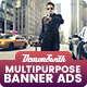 Multi Purpose Banners HTML5 D2 - Google Web Designer