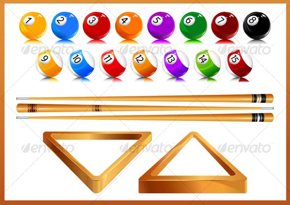 Billiards - Objects Vectors