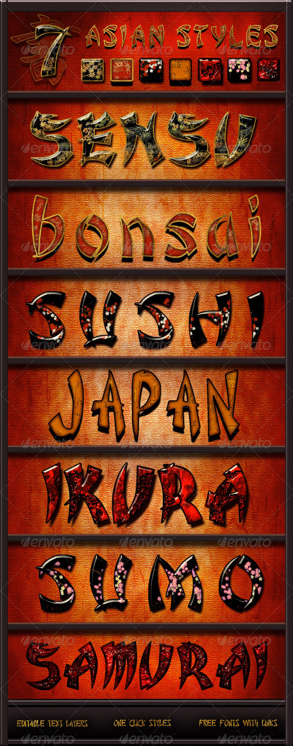 GraphicRiver Asian Styles Pack 1648051
