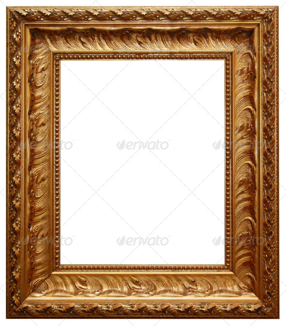 Classic gold frame - Stock Photo - Images