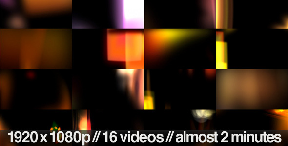 Light Leaks and Flares Overlays 16 Video Bundle