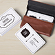 Rounded Corners Realistic Vintage Business Card Mockups