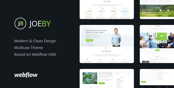 Joeby | Modern & Clean Design Webflow CMS Theme