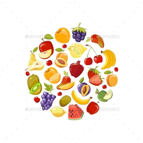 Circle Made of Fruits