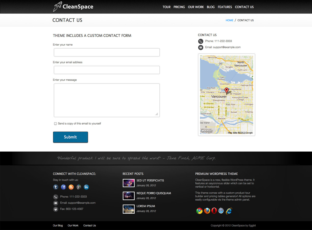 CleanSpace WordPress Theme