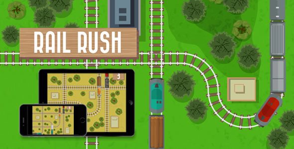 Rail Rush - HTML5 Game