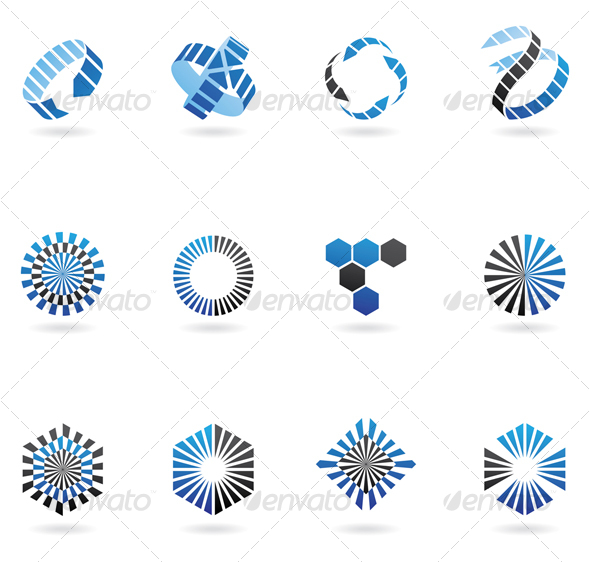 blue arrow icons - Abstract Icons