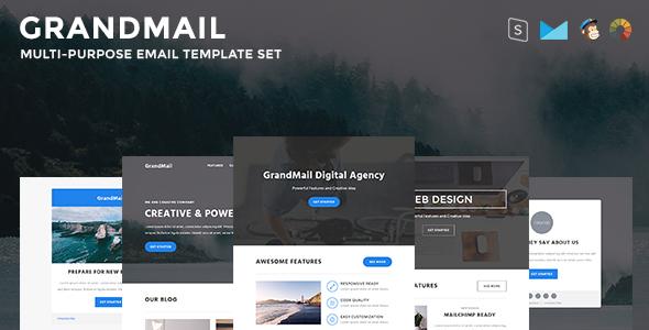 Image of GrandMail - Responsive Email Set