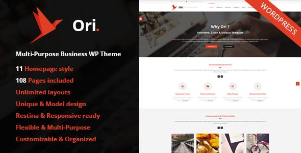 ORI - Multi-Purpose Responsive WordPress Theme for Business