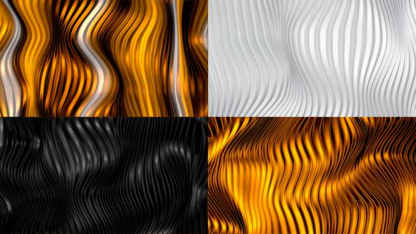Puhdista Metallic aaltoileva tausta saranat (4 kpl) - abstrakti taustat Motion Graphics
