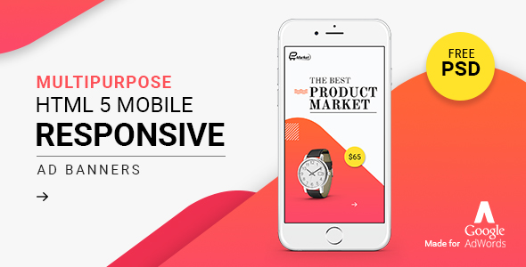 GWD | Responsive Mobile Ad Banner 02