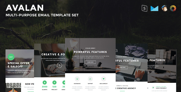 Avalan - Responsive Email Set