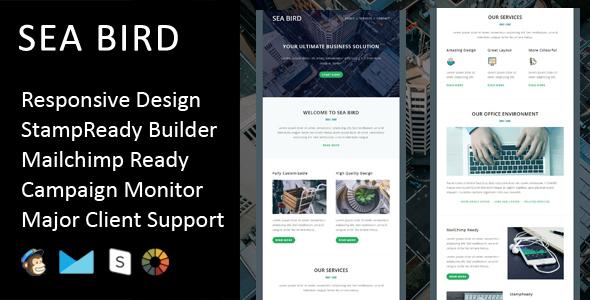 Sea Bird - Multipurpose Responsive Email Template + Stampready Builder