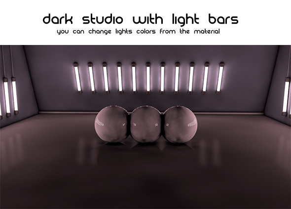 Dark Studio ( Light Bars ) - 3DOcean Item for Sale