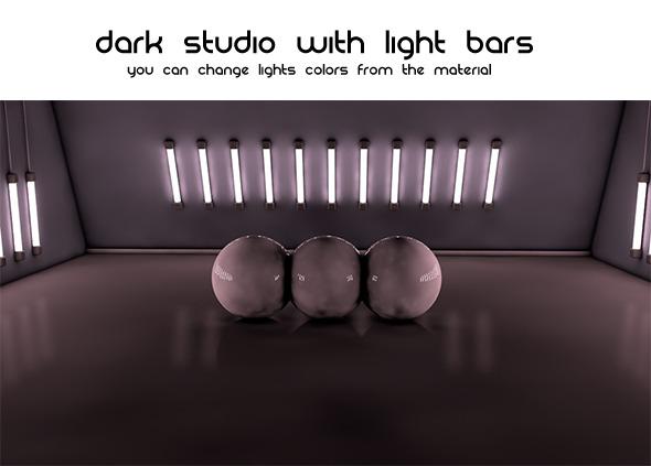 3DOcean Dark Studio Light Bars 1680760