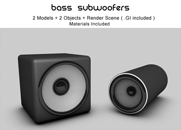 2 Subwoofer Models - 3DOcean Item for Sale