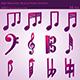 3D Musical Notes Symbols (55 pcs)