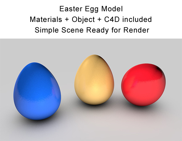 Easter Egg Model - 3DOcean Item for Sale