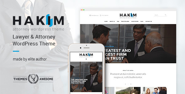 Download Attorney and Lawyer WordPress Theme - Hakim nulled download