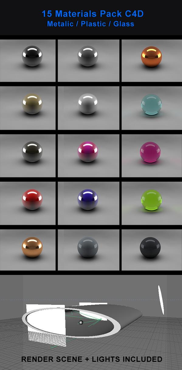 3DOcean 15 Materials Pack 1681618