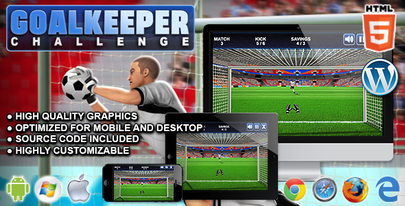 Goalkeeper Challenge - HTML5 Sport Game