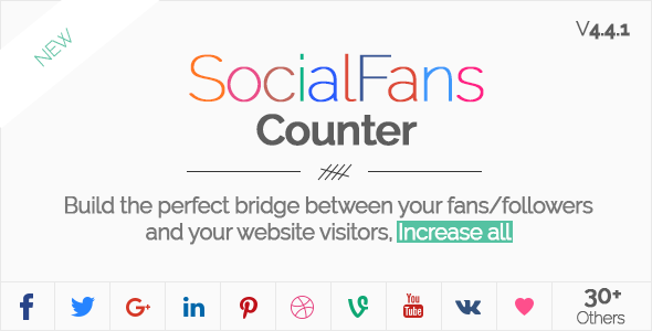 SocialFans - WP Responsive Social Counter Plugin - CodeCanyon Item for Sale