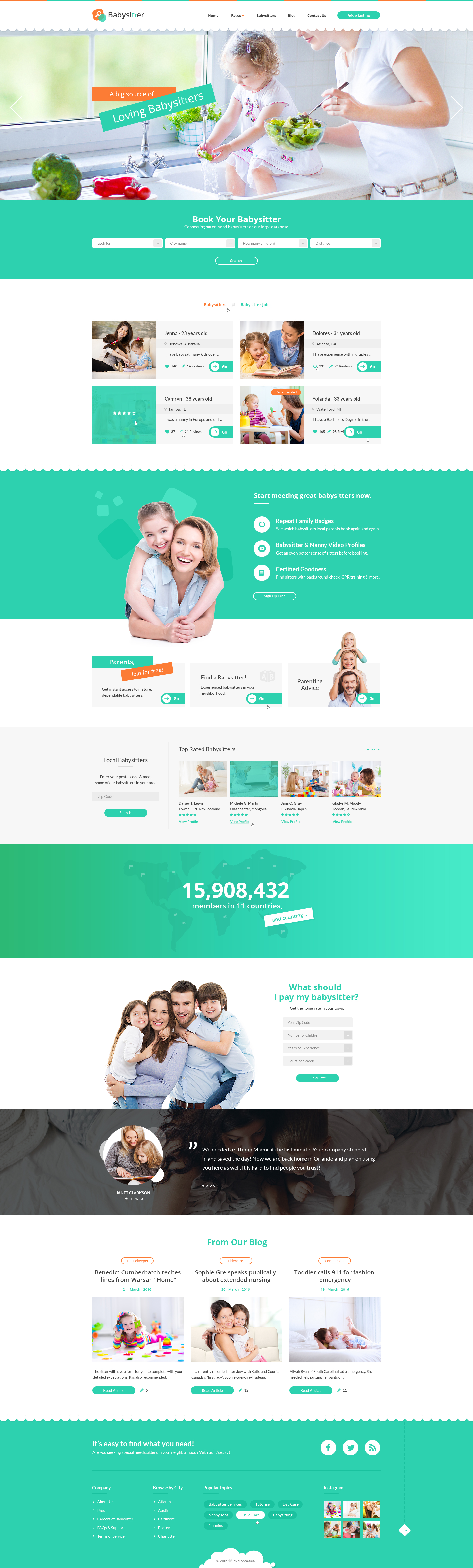 babysitters jobs directory babysitting html template by theme preview 00 preview jpg