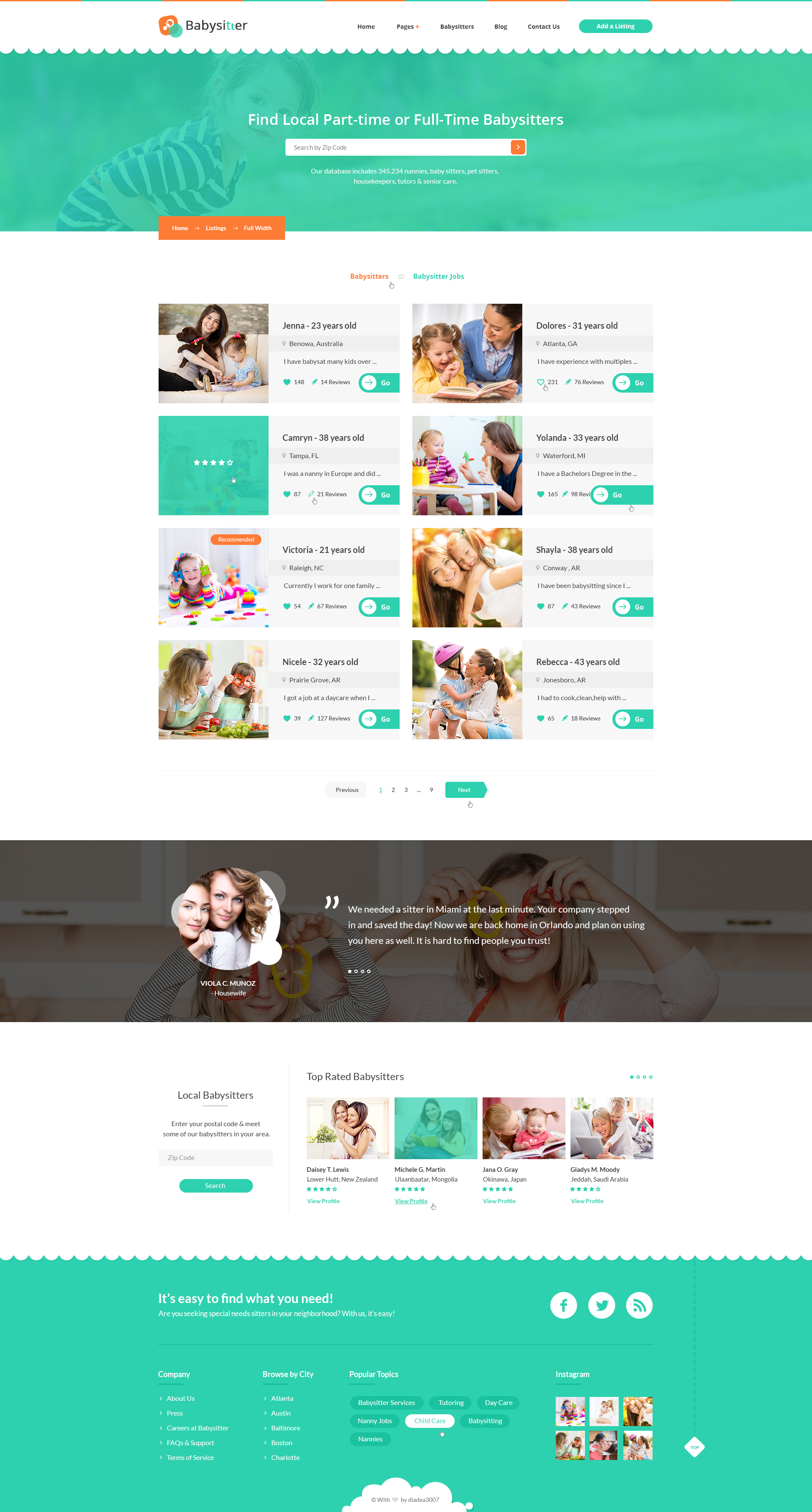 babysitters jobs directory babysitting html template by preview 03 listings full width babysitters jpg