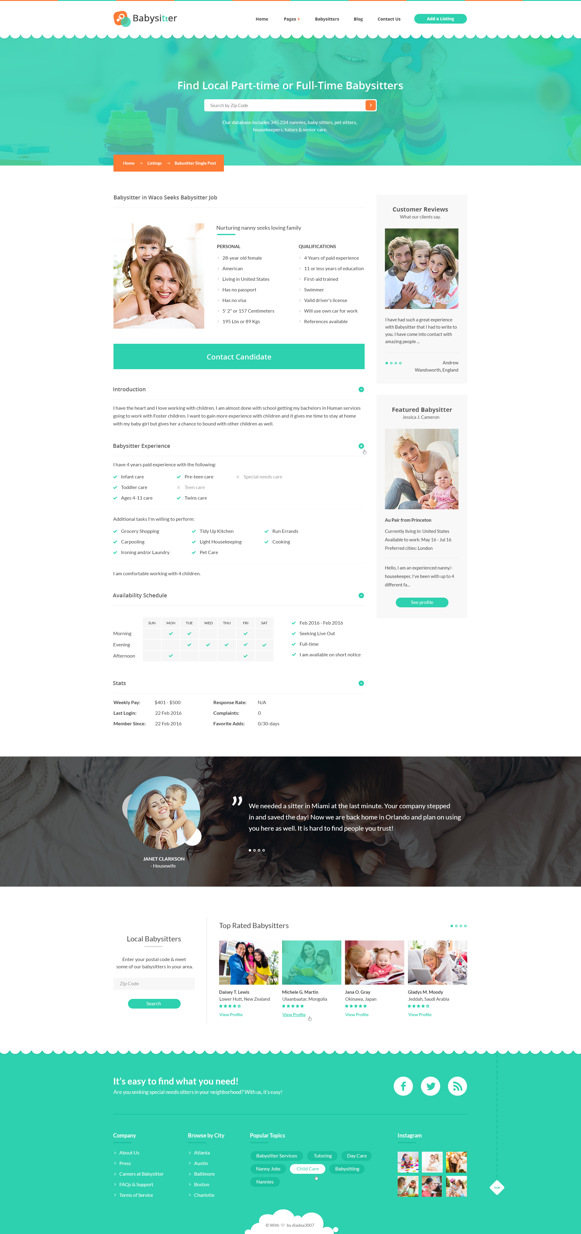 babysitters jobs directory babysitting html template by preview 06 listing single post babysitter jpg