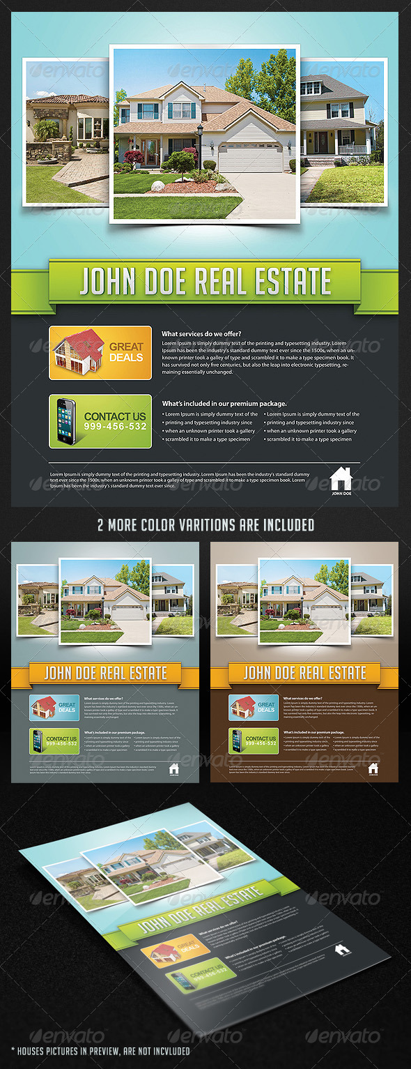 Corporate Real Estate Flyer - Corporate Flyers