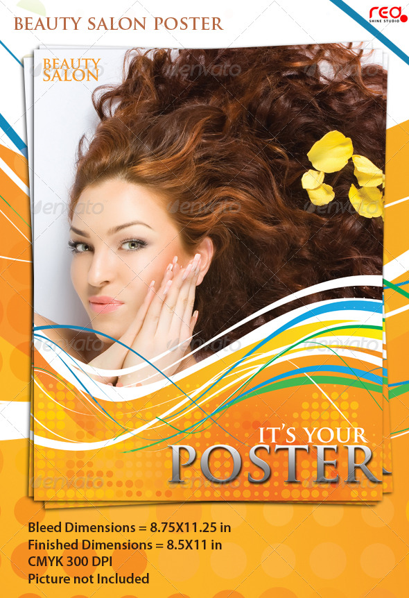 Graphic River Beauty Salon Poster/Flyer Template Print Templates -  Flyers  Corporate 198090