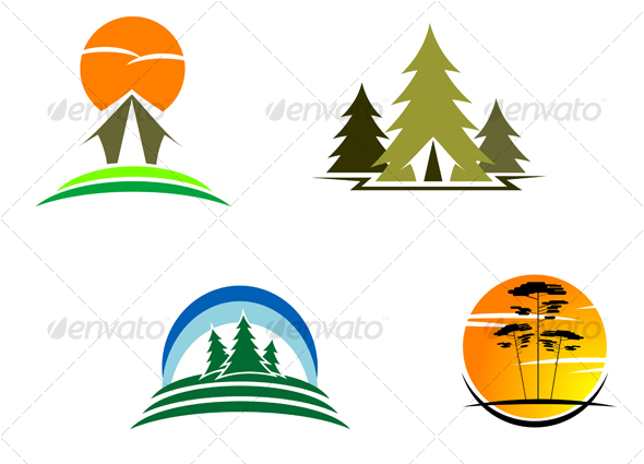 Vectors - Travel and tourism symbols - GraphicRiver